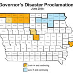 Disaster proclamations issued for 9 more counties after severe weather