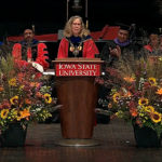 Iowa State University's first woman president installed in ceremony on Ames campus