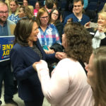 California Senator Harris deflects 2020 conversation, rallies with Iowans for 2018