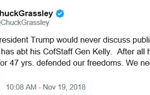 Senator Grassley critical of president's comments on chief of staff