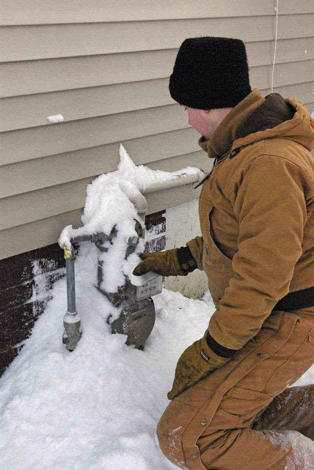 Be Sure Gas Meters And Exhaust Pipes Are Clear Of Snow