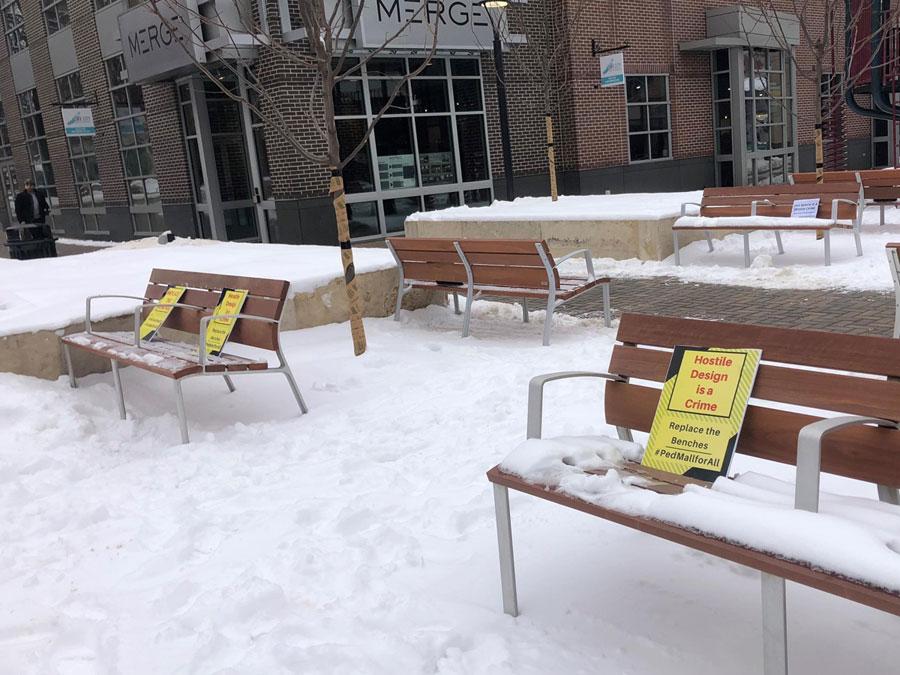 Protestors say homeless can't sleep on new downtown Iowa ...