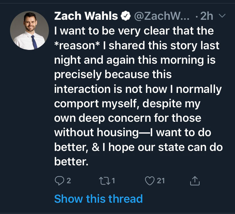 homelessness speech